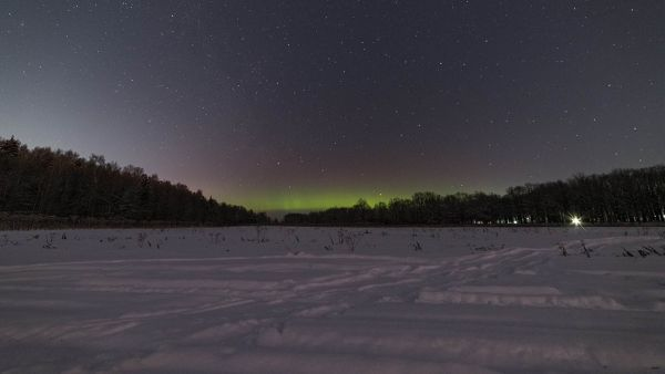 В Ярославской области запечатлели отголоски северного сияния