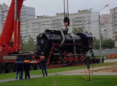Новый памятник паровозу в Ярославле