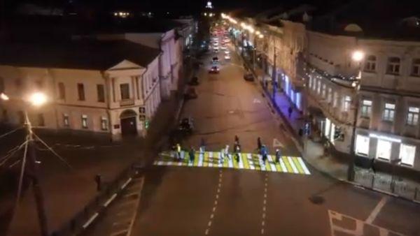 В Ярославле появился необычный пешеходный переход