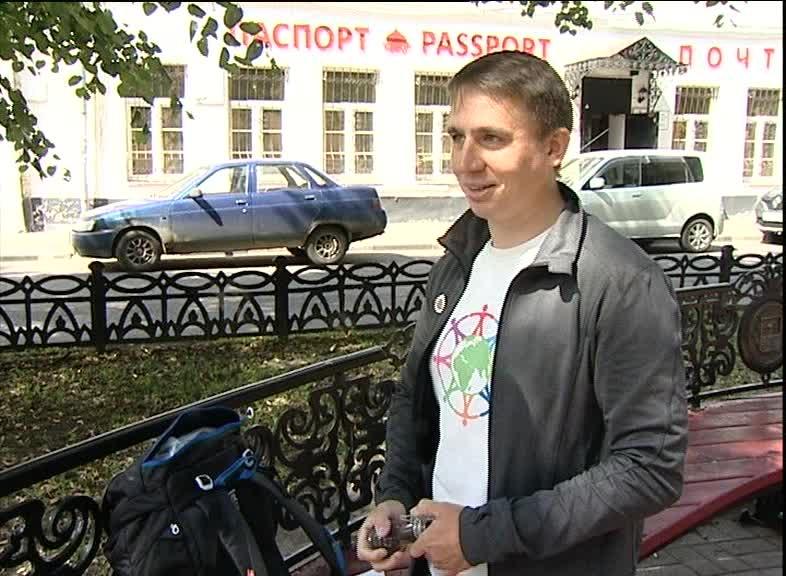 Благомарафонец Евгений Кутузов отправился из Твери в Индию