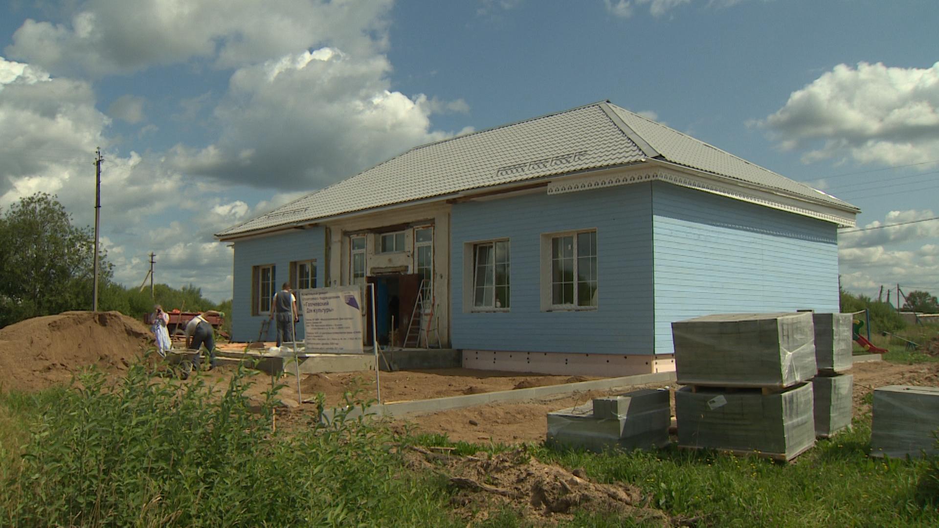 В Мышкинском районе ремонтируют сразу несколько Домов культуры