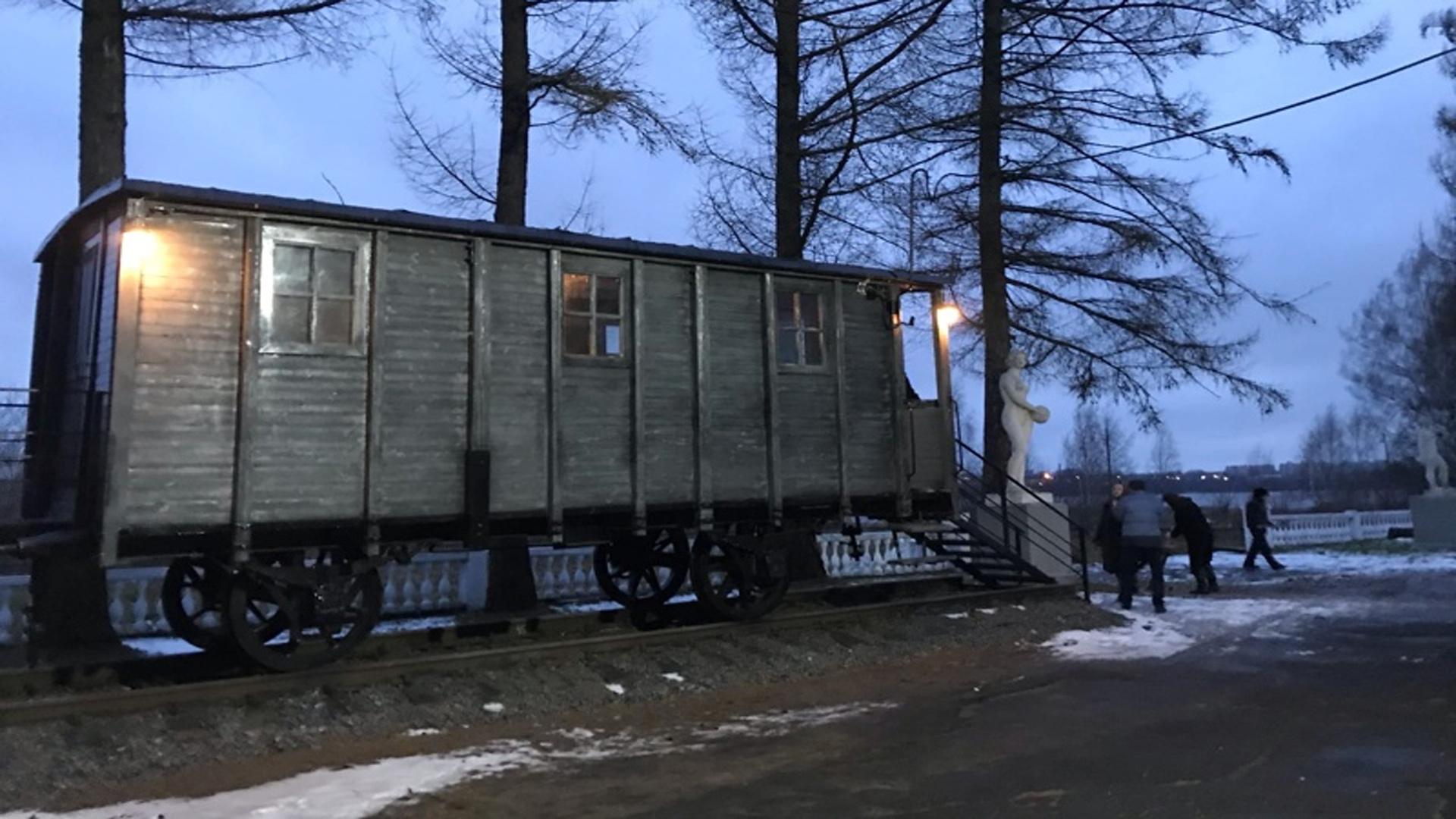 В Рыбинске открыли вагон-«теплушку»