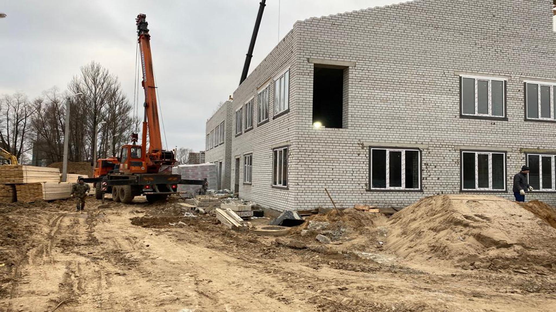 В Рыбинске продолжается строительство детского сада
