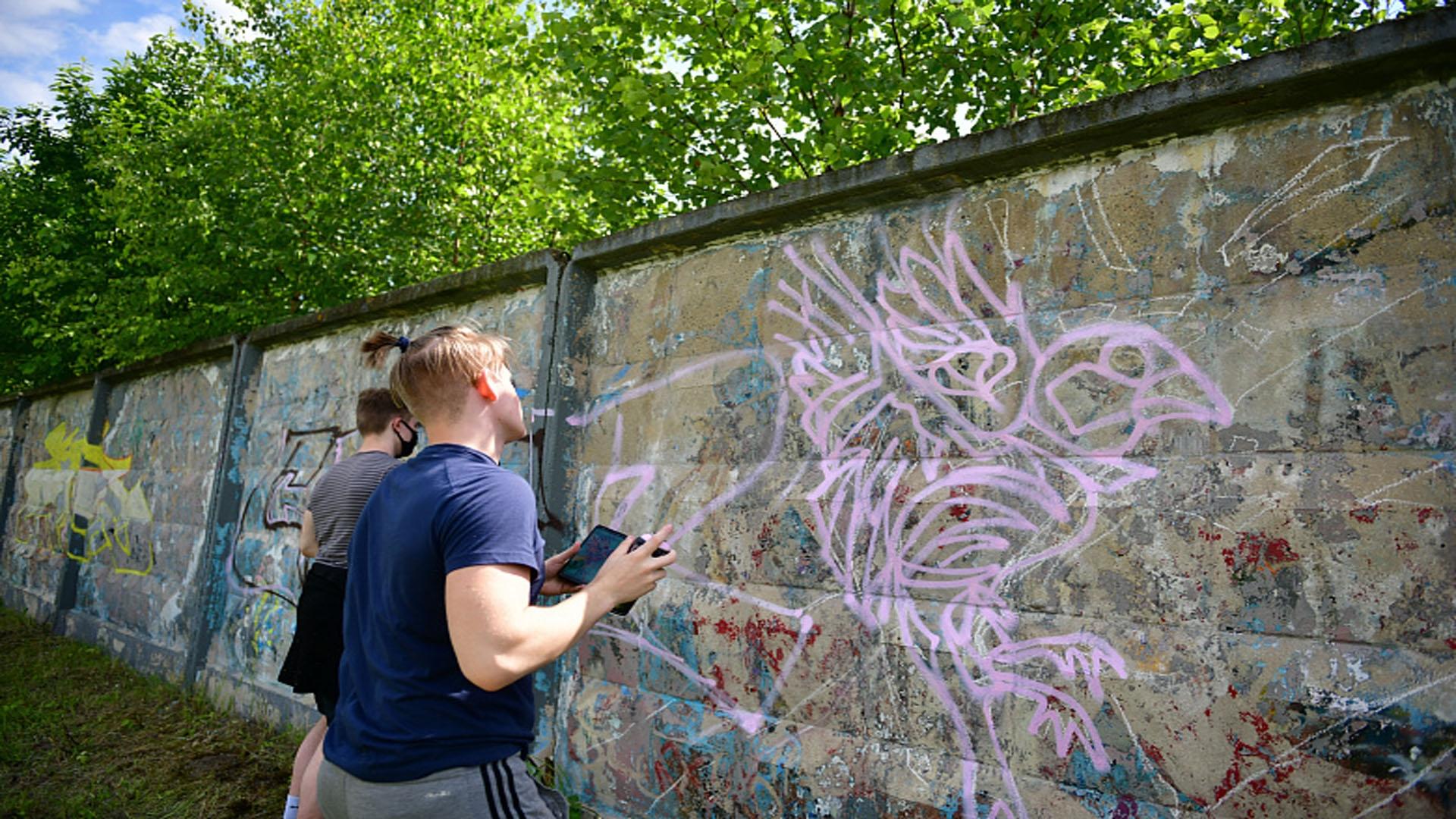 В Ярославле появилась третья легальная стена для граффити-художников