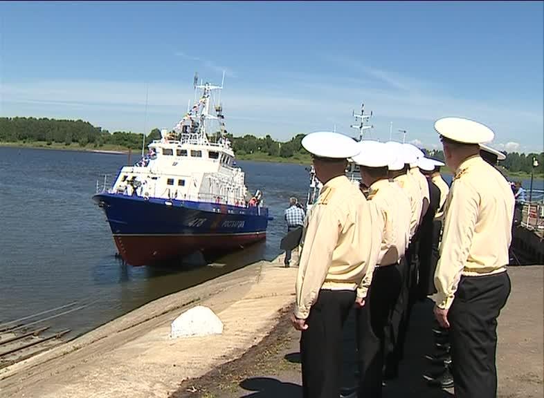 В Рыбинске спустили на воду катер «Грачонок»