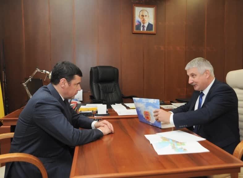 Губернатор Дмитрий Миронов провел встречу с главой Рыбинска Денисом Добряковым